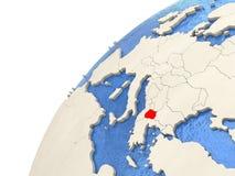 Macedonia en el globo Fotografía de archivo