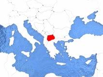 Macedonia en el globo Foto de archivo