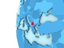 Macedonia en el globo azul Fotografía de archivo