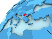 Macedonia en el globo azul Imagen de archivo