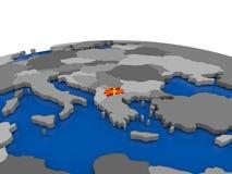 Macedonia en el globo 3D Fotografía de archivo