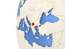 Macedonia en el globo 3D Fotos de archivo