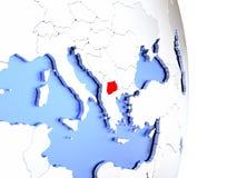 Macedonia en el globo moderno elegante 3D Imagenes de archivo
