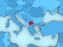Macedonia en el mapa 3D Imagenes de archivo