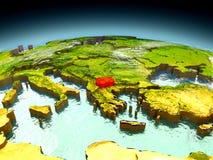 Macedonia en el modelo de la tierra Imagenes de archivo