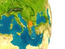 Macedonia en el planeta Imagenes de archivo