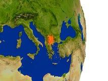 Macedonia en la tierra Imagen de archivo libre de regalías