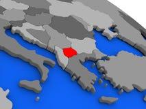Macedonia en rojo Fotos de archivo
