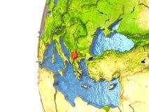Macedonia en rojo Fotografía de archivo libre de regalías