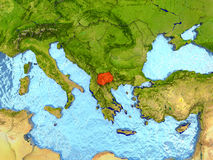 Macedonia en rojo Imágenes de archivo libres de regalías