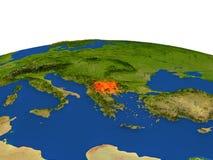 Macedonia en rojo de la órbita ilustración del vector