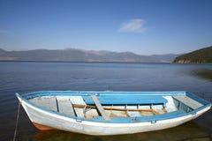 Macedonia, ex Yugoslav republic. South Europe. Boat on the lake Royalty Free Stock Images