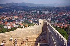 Macedonia, ex Yugoslav republic. South Europe. Fortress of emperor Samuel Royalty Free Stock Images