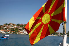 Macedonia, ex Yugoslav republic. South Europe. Macedonian flag Stock Photos