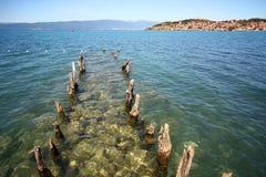Macedonia, ex Yugoslav republic. South Europe. On the lake Stock Photos