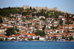 Macedonia, ex Yugoslav republic. South Europe. On the lake Stock Images