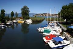 Macedonia, ex Yugoslav republic. South Europe. On the lake Royalty Free Stock Photos