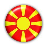 Macedonia Flag. World Flag Button Series - Europe- Macedonia (With Clipping Path Royalty Free Stock Photography