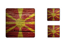 Macedonia Flag Buttons Royalty Free Stock Photos