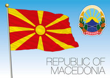 Macedonia flag and coat of arms Royalty Free Stock Images