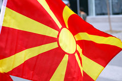 Macedonia Flag Stock Images