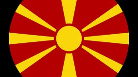 Macedonia Flag Transition 4K. Smooth and Elegant flag animation with alpha matte. Great 2D look that is perfect for any kind of videos dealing with a world view vector illustration