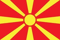 Macedonia Flag vector illustration. Macedonia Flag. National Flag of Macedonia Stock Image