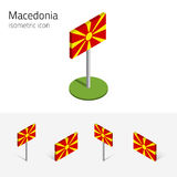 Macedonia flag, vector set of 3D isometric icons Royalty Free Stock Photo