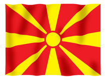 Macedonia fluttering. Fluttering image of the Macedonian flag Royalty Free Stock Photo