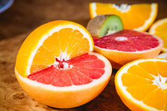 Macedonia, frutta affettata Fotografie Stock Libere da Diritti