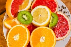Macedonia, frutta affettata Fotografia Stock Libera da Diritti