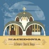 Macedonia landmarks. Retro styled image. Royalty Free Stock Photography