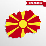 Macedonia map with flag inside and ribbon Stock Photo