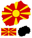 Macedonia map and flag vector Royalty Free Stock Photography