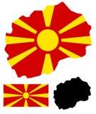 Macedonia map and flag vector Royalty Free Stock Photography