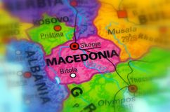 State of Macedonia, Europe. Macedonia, officially the Republic of Macedonia selective focus Stock Images