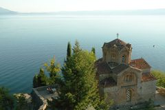 Macedonia, Ohrid/Ochrid, Saint Jovan Kaneo Temple Stock Photo