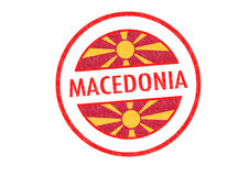 MACEDONIA. Passport-style MACEDONIA rubber stamp over a white background Stock Photos