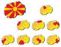 Macedonia provinces maps Stock Images