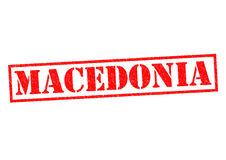 MACEDONIA. Rubber Stamp over a white background Stock Photography