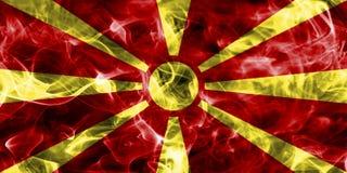 Macedonia smoke flag. Isolated on a black background Royalty Free Stock Images