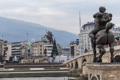 Macedonia Square, Skopje stock photos