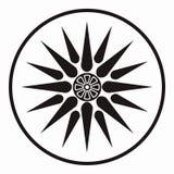 Macedonia star symbol. Vector symbol of king Philipos of Macedonia Stock Photography