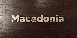 Macedonia - título de madera sucio en arce - 3D rindió imagen común libre de los derechos Fotografía de archivo libre de regalías