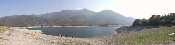 Macedonia.  Tikveshko Lake. Sunny day. Panorama of Tikveshko Lake Royalty Free Stock Photography