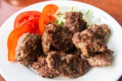 Macedonian-Albanian style kofte meatballs royalty free stock photos
