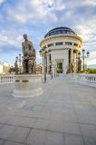 Macedonian bridge of ART, Skopje Royalty Free Stock Photos