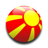 Macedonian flag Stock Image