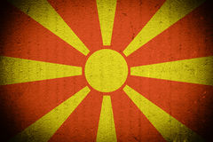 Macedonian Flag Background Royalty Free Stock Photo