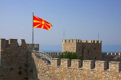 Macedonian flag Royalty Free Stock Photography